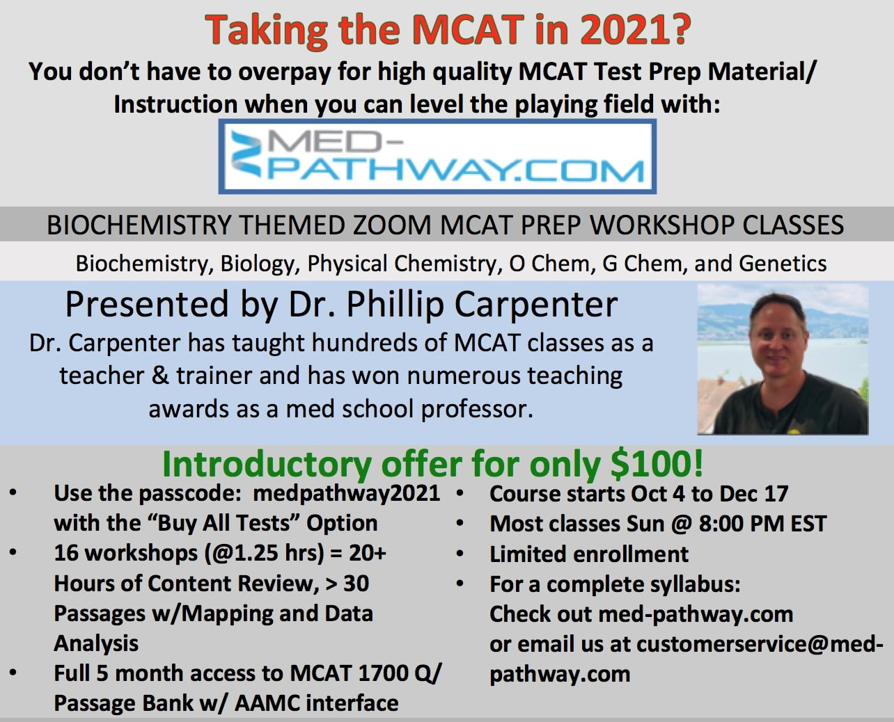 Med-Pathway Free zoom workshops